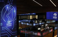 Помещение фондовой биржи в Стамбуле. 29 февраля 2016 года. Турецкая фондовая биржа Borsa Istanbul проведет IPO в будущем году, сказал её директор Тунджай Динч. REUTERS/Murad Sezer