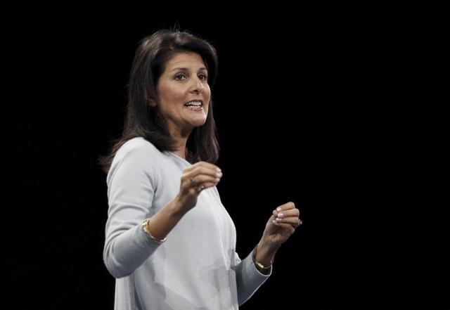 South Carolina governor Nikki Haley speaks in Columbia, South Carolina, January 9, 2016. REUTERS/Randall Hill