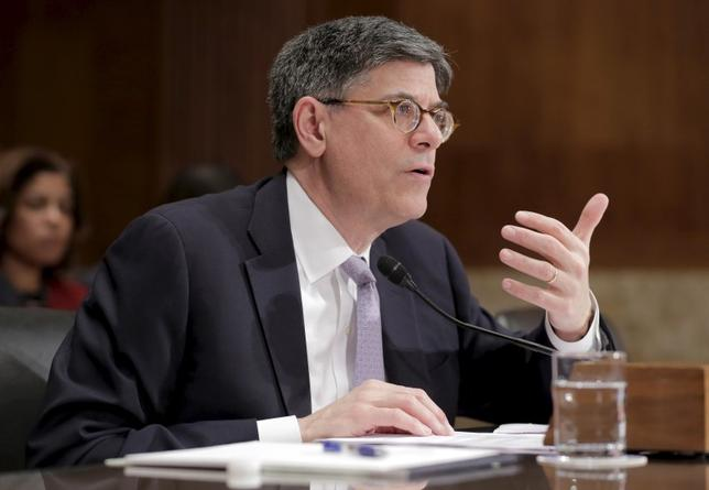 Treasury Secretary Jack Lew testifies at a Senate Appropriations Subcommittee hearing on the FY2017 budget for the Treasury Department on Capitol Hill in Washington March 8, 2016. REUTERS/Joshua Roberts