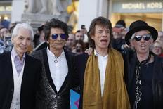 Integrantes dos Rolling Stones chegam a evento sobre exposição em Londres. 4/4/2016. REUTERS/Luke MacGregor