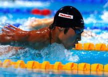 Nadador japonês Kosuke Hagino durante competição em Barcelona.    04/08/2013       REUTERS/Michael Dalder