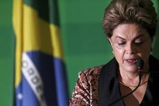 Presidente Dilma Rousseff durante evento no Palácio do Planalto, Brasília.     19/04/2016      REUTERS/Ueslei Marcelino