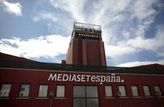 The headquarters of Mediaset Espana is seen outside Madrid, Spain, April 13, 2016. REUTERS/Andrea Comas