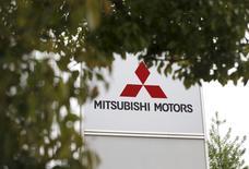The logo of Mitsubishi Motors Corp is seen at its headquarters in Tokyo, Japan, April 21, 2016.   REUTERS/Toru Hanai