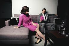 Performers Matthew Worth, who plays the role of President John F. Kennedy, and Daniela Mack, who plays first lady Jacqueline Kennedy appear in a scene from the opera JFK that will open in Fort Worth, Texas in this undated recent handout photo released on April 22, 2016.  Nine Photography/Fort Worth Opera/Handout via Reuters