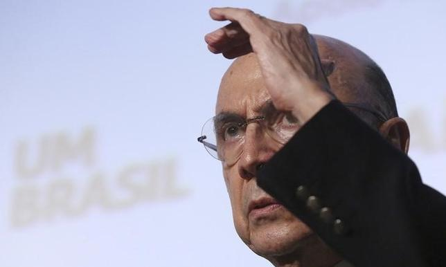 Former President of Brazil's central bank Henrique Meirelles gestures during the Industry National Meeting in Sao Paulo, Brazil, November 13, 2015. REUTERS/Rodrigo Paiva