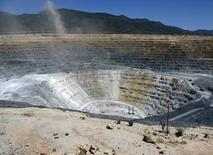 A general view shows the open pit gold mine of Goldcorp in Penasquito September 18, 2012.  REUTERS/Jean Luis Arce