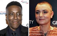 Comedian Arsenio Hall is shown in Los Angeles, California, October 19, 2015 and Irish recording artist Sinead O'Connor is shown in New York, December 14, 2011 in this combination photo. REUTERS/Joshua Roberts, Eduardo Munoz/File Photos