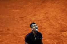 Tennis - Madrid Open - Nick Kyrgios of Australia v Kei Nishikori of Japan- Madrid, Spain - 6/5/16 Kyrgios reacts. REUTERS/Susana Vera