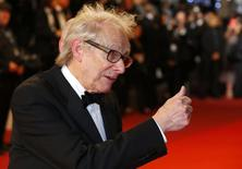 "Director Ken Loach poses on the red carpet as he arrives for the screening of the film ""I, Daniel Blake"" in competition at the 69th Cannes Film Festival in Cannes, France, May 13, 2016.  REUTERS/Yves Herman"