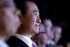 Wang Jianlin, the chairman of Dalian Wanda Group in China smiles during an event announcing strategic partnership between Wanda Group and FIFA in Beijing March 21, 2016. REUTERS/Damir Sagolj