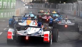 Formula E - Berlin ePrix, Berlin, Germany, 21/05/16. Drivers compete. REUTERS/Hannibal Hanschke