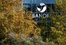 The Sanofi logo is seen at the company's Sanofi Pasteur headquarters in Lyon, France, October 26, 2015. REUTERS/Robert Pratta