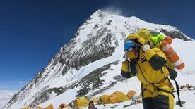 Alpinista visto em acampamento no Everest.     20/05/2016      Phurba Tenjing Sherpa/Handout via REUTERS