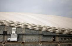Obra no velódromo no Parque Olímpico dos Jogos do Rio. 25/5/2016.  REUTERS/Ricardo Moraes
