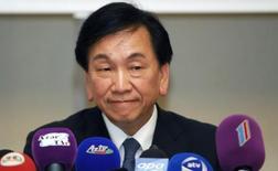 Presidente da Associação Internacional de Boxe, Wu Ching-Kuo, durante evento no  Azerbaijão.     24/09/2011  REUTERS/Osman Karimov