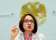 Russia's Central Bank Governor Elvira Nabiullina speaks during a news conference in Moscow, Russia, June 10, 2016. REUTERS/Maxim Shemetov - RTSGWI8
