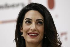 Advogada Amal Clooney  durante entrevista em Londres 25/1/2016 REUTERS/Stefan Wermuth