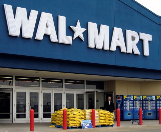 A Wal Mart store front is seen in Toronto March 5, 2009.    REUTERS/ Mike Cassese