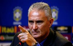 Football Soccer - News conference - Brazilian Football Confederation (CBF) headquarters - Rio de Janeiro, Brazil - 20/6/16 - New Brazilian national head coach Tite attends a news conference. REUTERS/Sergio Moraes