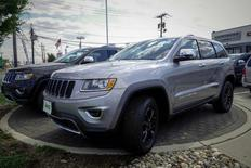 The 2015 Jeep Grand Cherokee is exhibited at a car dealership in Jersey City, New Jersey, U.S. on July 24, 2015.   REUTERS/Eduardo Munoz/File Photo
