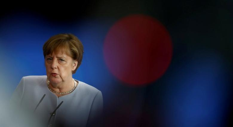 German Chancellor Angela Merkel attends a news conference at the chancellery in Berlin, Germany, June 27, 2016. REUTERS/Hannibal Hanschke