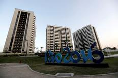 General view of athletes' accommodation can be seen during a guided tour for journalists to the 2016 Rio Olympics Village in Rio de Janeiro, Brazil, July 23, 2016. REUTERS/Ricardo Moraes