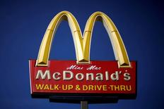 The logo of McDonald's (MCD) is seen in Los Angeles, California, United States, April 22, 2016. REUTERS/Lucy Nicholson/File Photo