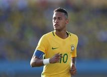 Neymar durante amistoso em Goiânia 30/07/2016 REUTERS/Ueslei Marcelino
