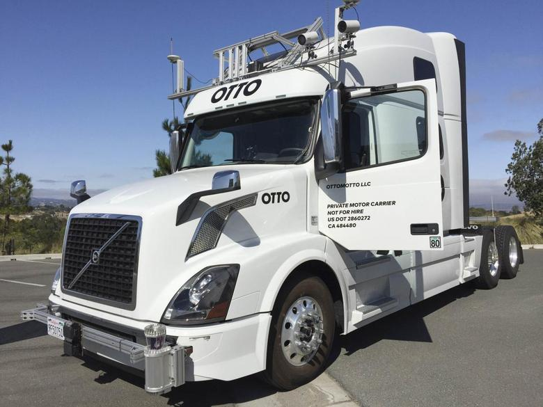 An Autonomous trucking start-up Otto vehicle is shown during an announcing event in Concord, California, U.S. on August 4, 2016.   REUTERS/Alexandria Sage