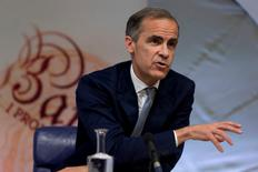Presidente do banco central britânico, Mark Carney, durante evento em Londres.    04/08/2016      REUTERS/Justin Tallis/Pool