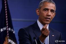 Президент США Барак Обама на пресс-конференции в Пентагоне 4 августа 2016 года. Последние действия России и сирийских властей порождают сомнения в их приверженности сохранять режим прекращения огня в Сирии, сказал в четверг президент США Барак Обама.  REUTERS/Jonathan Ernst