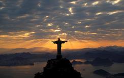 Vista geral do Cristo Redentor, no Rio de Janeiro.    02/08/2016    REUTERS/Wolfgang Rattay