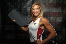 Rower Meghan Musnicki poses for a portrait at the U.S. Olympic Committee Media Summit in Beverly Hills, Los Angeles, California March 9, 2016. REUTERS/Lucy Nicholson