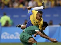 Neymar em jogo do Brasil contra o Iraque.  07/08/2016.  REUTERS/Ueslei Marcelino