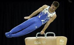 2016 Rio Olympics - Artistic Gymnastics - Final - Men's Pommel Horse Final - Rio Olympic Arena - Rio de Janeiro, Brazil - 14/08/2016. Max Whitlock (GBR) of Britain competes. REUTERS/Mike Blake