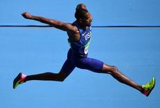 2016 Rio Olympics - Athletics - Final - Men's Triple Jump Final - Olympic Stadium - Rio de Janeiro, Brazil - 16/08/2016. Christian Taylor (USA) of USA competes.      REUTERS/Dylan Martinez