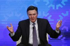 Dennis Lockhart of the Atlanta Fed takes part in a panel convened to speak about the health of the U.S. economy in New York November 18, 2015. REUTERS/Lucas Jackson/File Photo - RTSETUH