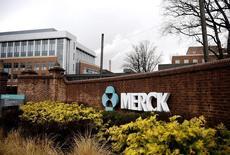 Una vista de un campus de Merck & Co. en Linden, Nueva Jersey. 9 de marzo de 2009. Merck & Co Inc es una de al menos cinco farmacéuticas que presentaron muestras de interés este mes para comprar a Medivation Inc, una compañía estadounidense que elabora medicamentos para tratar el cáncer, según gente con conocimiento del tema. REUTERS/Jeff Zelevansky