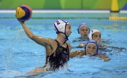 2016 Rio Olympics - Water Polo - Final - Women's Gold Medal Match USA v Italy - Olympic Aquatics Stadium - Rio de Janeiro, Brazil - 19/08/2016. Madeline Musselman (USA) of USA competes. REUTERS/Sergio Moraes