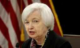 U.S. Federal Reserve Chair Janet Yellen speaks during a news conference following the two-day Federal Open Market Committee (FOMC) policy meeting in Washington, DC, U.S. on March 16, 2016.  REUTERS/Kevin Lamarque/File Photo