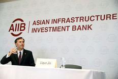 Canada's Finance Minister Bill Morneau attends a news conference at the headquarters of the Asian Infrastructure Investment Bank (AIIB) in Beijing, China, August 31, 2016.  REUTERS/Thomas Peter