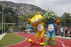 Талисманы Олимпиады и Паралимпиады в Рио-де-Жанейро. 24 ноября 2014 года. Высшая судебная инстанция Швейцарии отказалась в среду принять решение, которое позволило бы россиянам принять участие в Паралимпийских играх в Бразилии в следующем месяце. REUTERS/Pilar Olivares