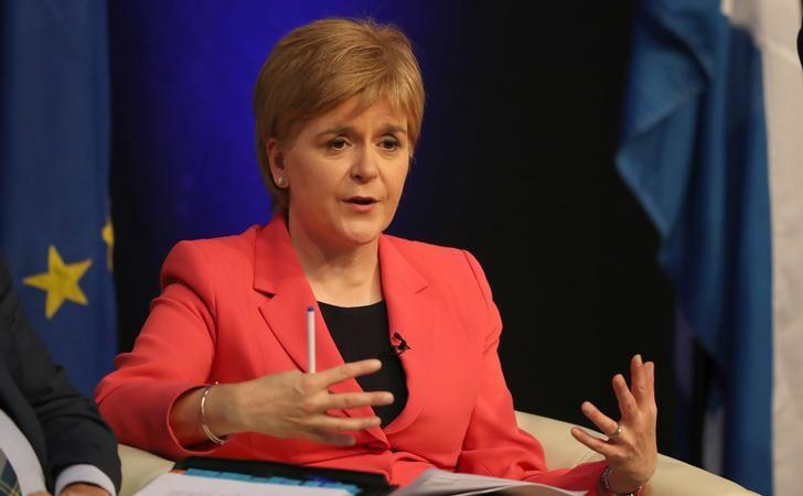 Scotland's First Minister Nicola Sturgeon speaks at the public Question and Answer event with EU nationals living in Scotland, at the Corn Exchange, Edinburgh, Scotland August 17, 2016. REUTERS/Russell Cheyne