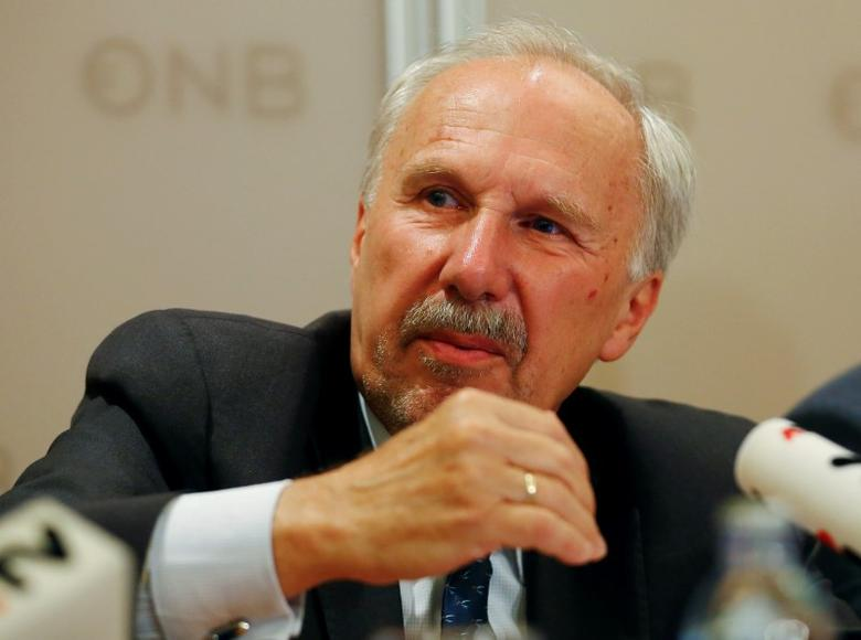 President of the Austrian National Bank and European Central Bank Governing Council member Ewald Nowotny attends a news conference in Vienna, Austria, June 6, 2016.    REUTERS/Leonhard Foeger
