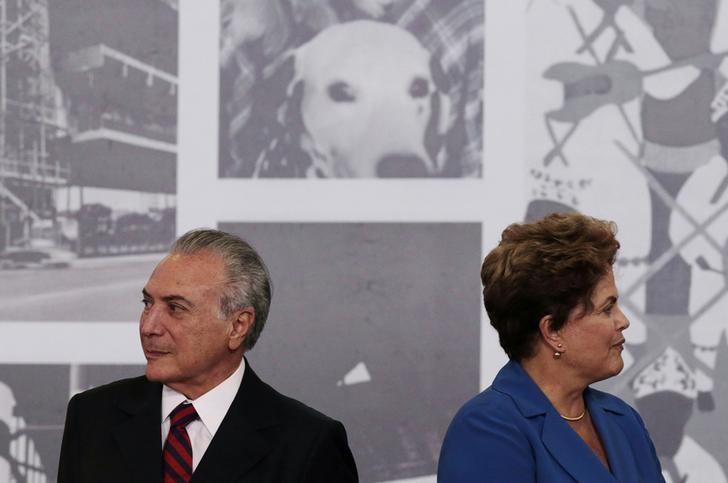 File picture of Dilma Rousseff seen next to Michel Temer during the Order of Cultural Merit ceremony at the Planalto Palace in Brasilia November 5, 2014. REUTERS/Ueslei Marcelino/File Photo