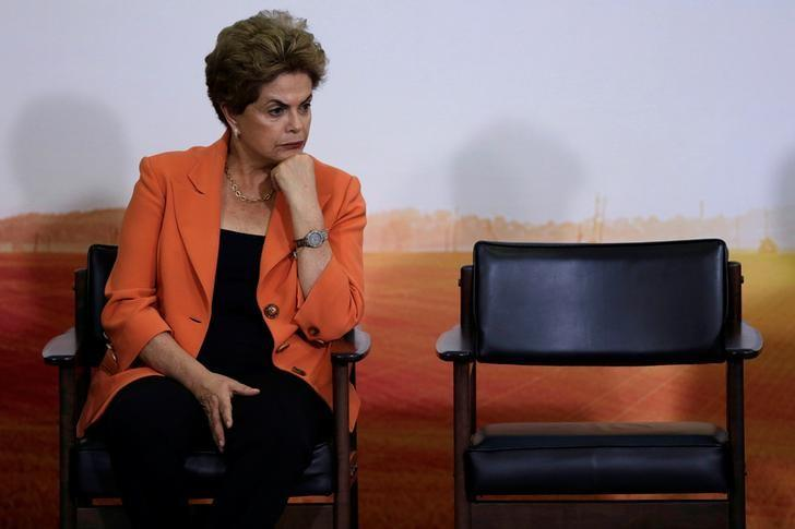 Dilma Rousseff  at the Planalto Palace in Brasilia, Brazil May 4, 2016. REUTERS/Ueslei Marcelino