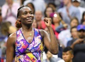 Sept 3, 2016; New York, NY, USA;      Venus Williams of the USA after beating Laura Siegemund of Germany on day six of the 2016 U.S. Open tennis tournament at USTA Billie Jean King National Tennis Center. Mandatory Credit: Robert Deutsch-USA TODAY Sports