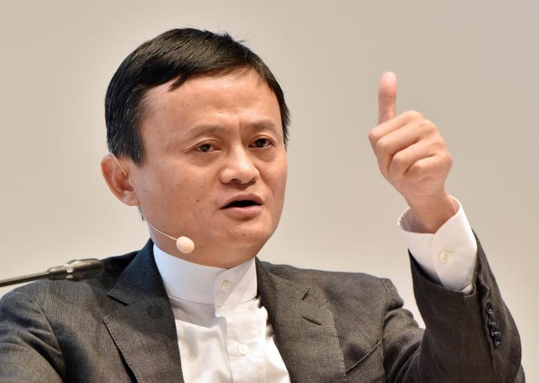 FILE PHOTO - Founder and Executive Chairman of Alibaba Group Jack Ma speaks during a session of the St. Petersburg International Economic Forum 2016 (SPIEF 2016) in St. Petersburg, Russia, June 17, 2016.   REUTERS/Stoyan Vassev/TASS/Host Photo Agency/Pool/File Photo