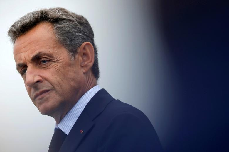 Nicolas Sarkozy, former head of the Les Republicains political party, attends Les Republicains LR political party summer camp in La Baule, France, September 4, 2016. REUTERS/Stephane Mahe